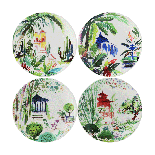 Assorted Canape Plates - Set of 4