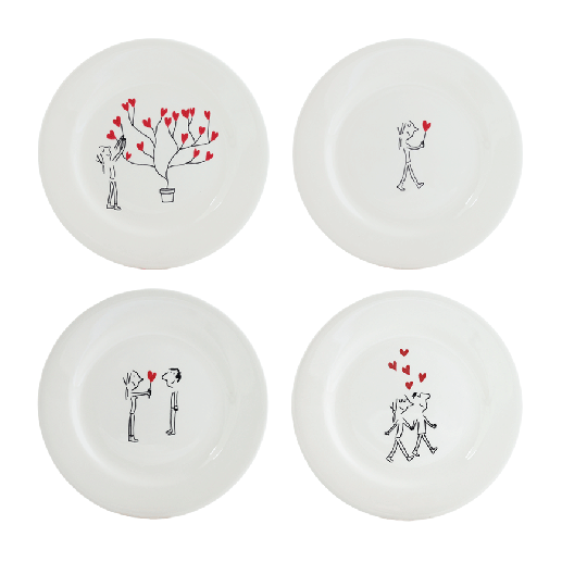 Assorted Canape Plates- Set of 4