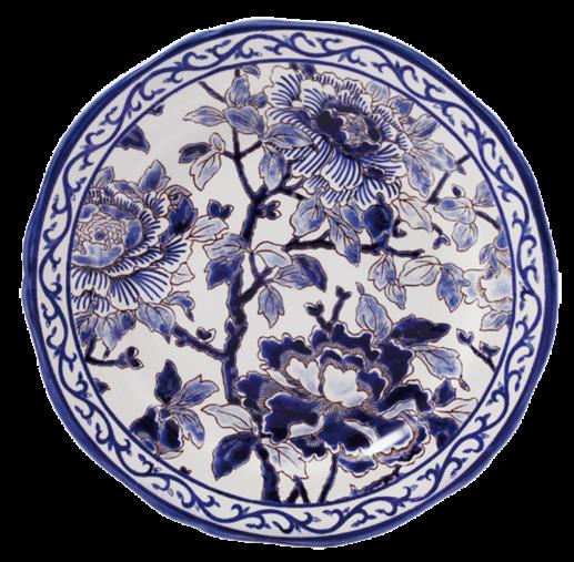 Dinner Plate - Blue Pivoines