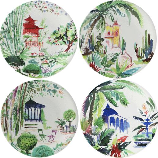 Assorted Dessert Plates - Set of 4