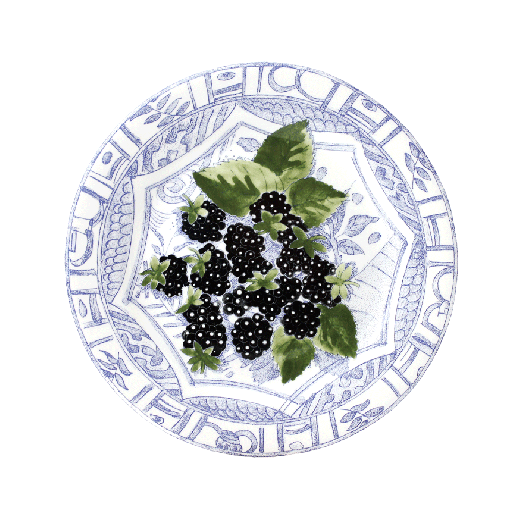 Dessert plate blackberries