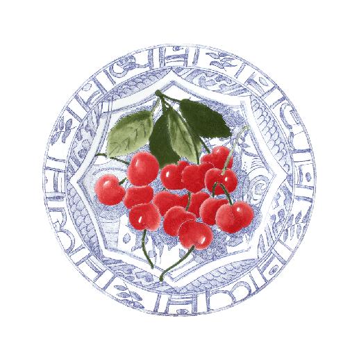 Dessert Plate Cherries