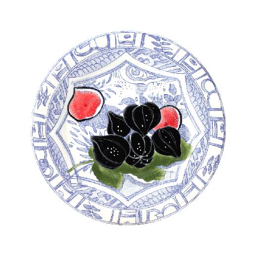 Dessert plate Figs