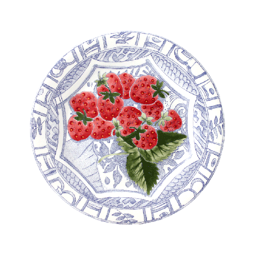 Dessert plate strawberries