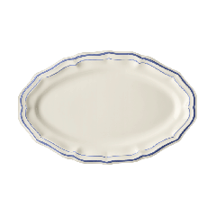 1 plat ovale n°6 filet bleu en Faïence de Gien