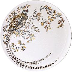 Grand plat Faisan - Sologne - Ø 61,5 cm